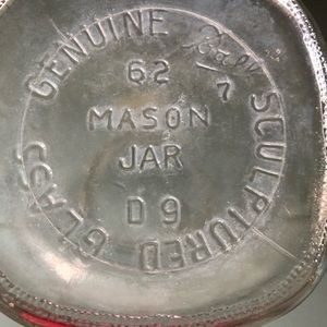 Stamped 1962 Ball mason jar quart size